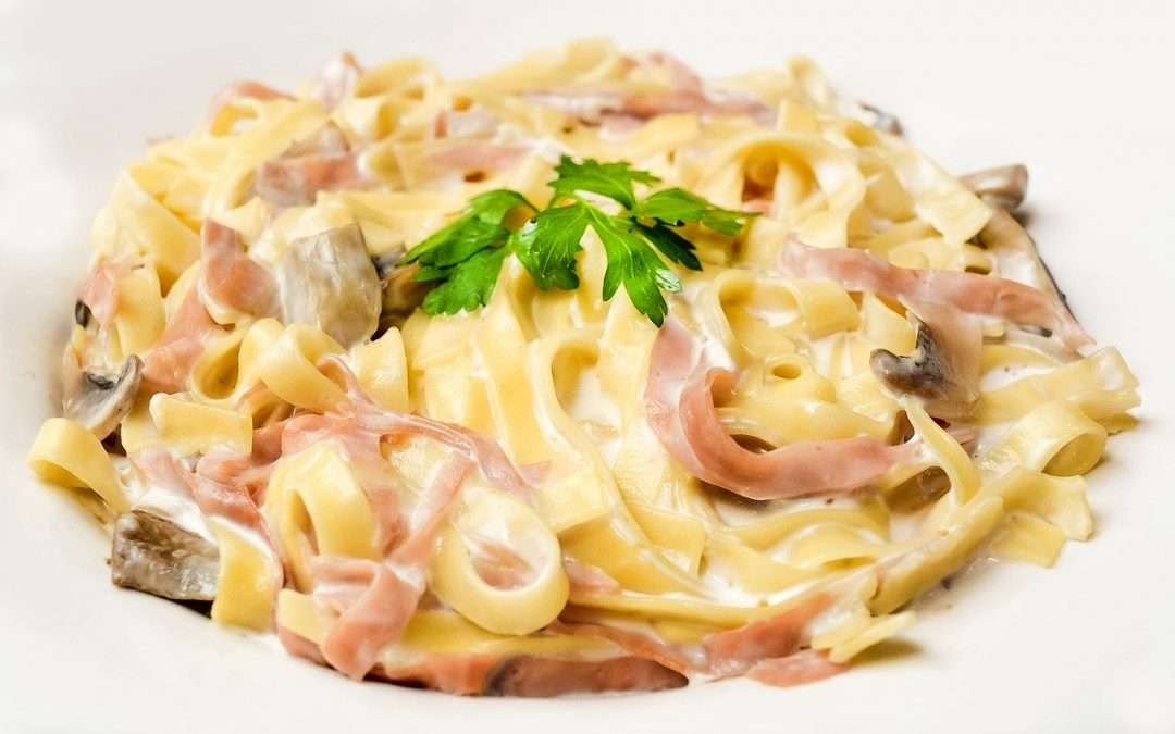 Pasta with Ham & Swiss Cheese