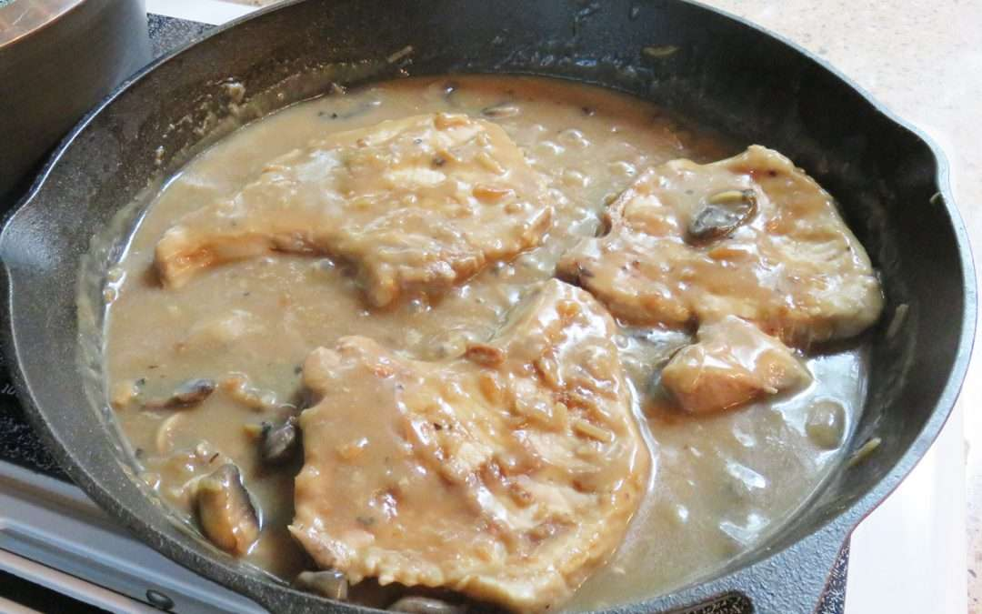 Skillet Pork Chops with Mushrooms