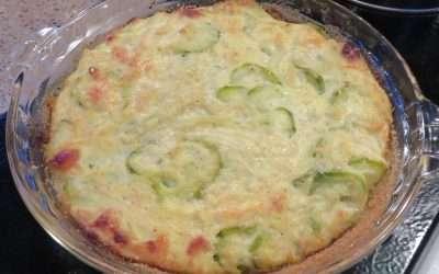 Zucchini, Onion & Ricotta Pie, Piedmont Style
